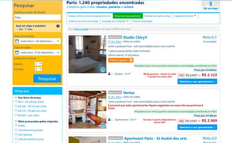 Hospedagem - Airbnb ou Hotel em Paris