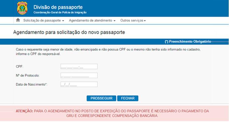 Agendamento passaporte brasileiro