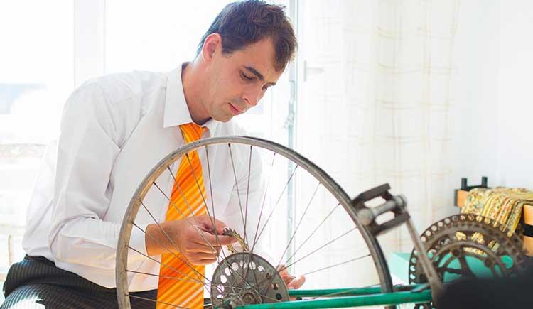 Desmontar  a bicicleta