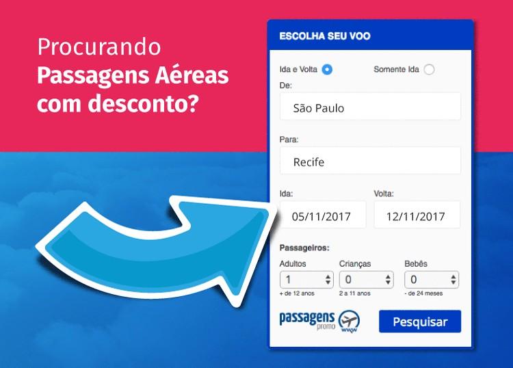 buscador de passagens aéreas promocionais do site Passagens Promo