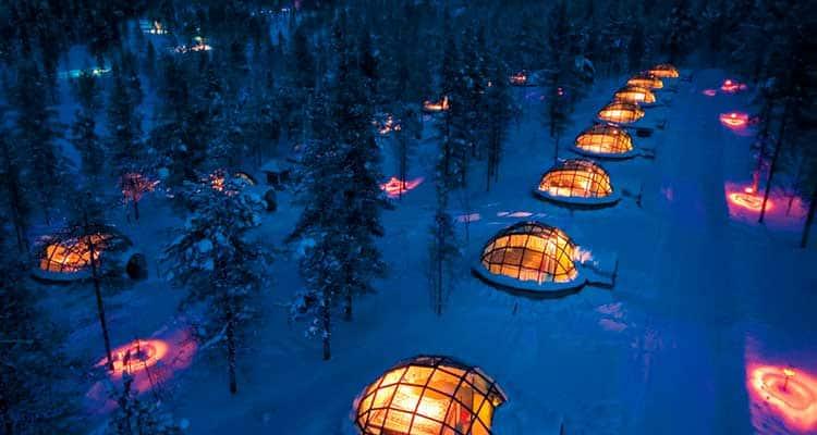 Hotel-Kakslauttanenvontadedeviajar-min 6 hotéis que vão te deixar com vontade de viajar