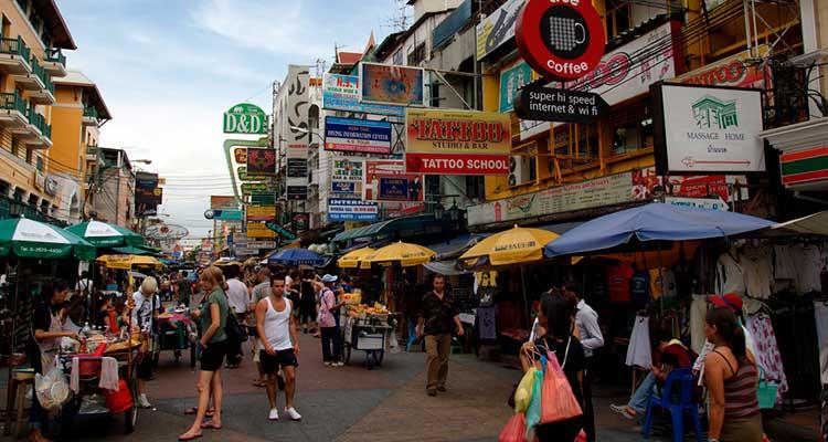 onde_ficar_em_Bangkok_Khao_San_Road Guia de Viagem: Onde ficar em Bangkok