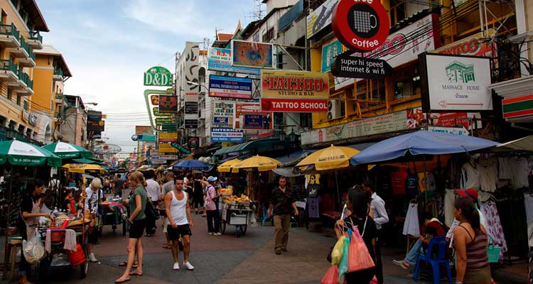 onde ficar em Bangkok Khao San Road
