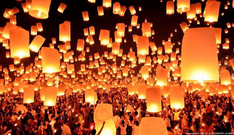 lanternas1 Viaje para Tailândia: Conheça o Festival das Lanternas